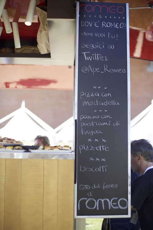 ape romeo menu