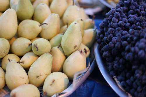 pears grapes