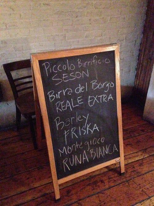 beer menu paulie gee's