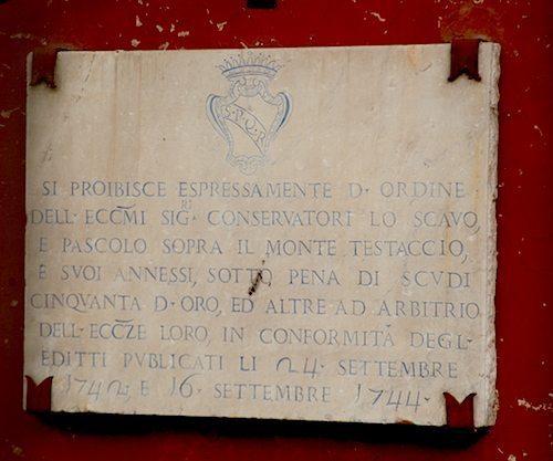 Monte Testaccio inscription