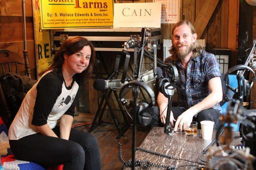 Damon and Katie recording Ep. 108